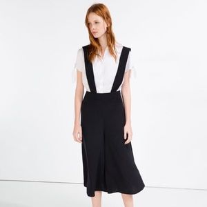 ZARA CULOTTES WITH BRACES size M coveralls NWT